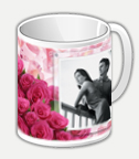 Кружки для влюбленных - Букет из роз